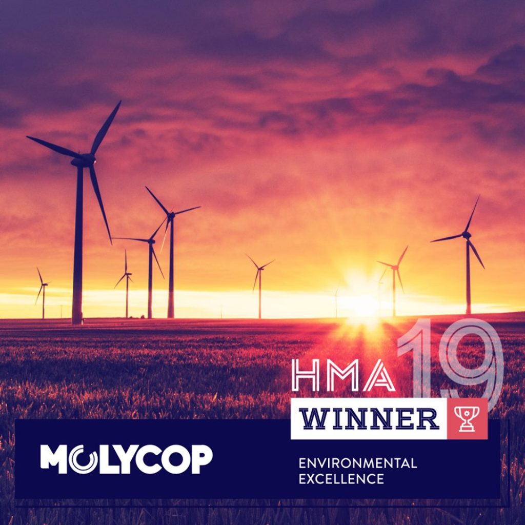 MOLYCOP WINS ENVIROMENTAL EXCELLENCE AWARD
